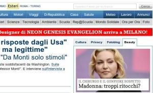 uno screenshot di Repubblica.it, matattina 1 luglio 2013
