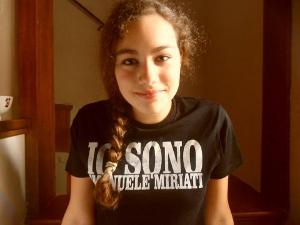 Alice Tozzi nel ruolo di Emanuele Miriati - foto da album Facebook di R. Goretti