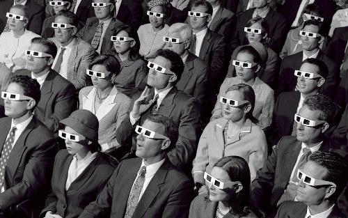 cinema bianco nero 3d