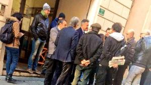 Barbareschi al Teatro Eliseo il giorno dello sfratto. Foto Rosa Polacco