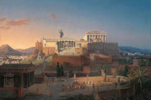 L'Acropoli di Atene vista da Leo Von Klenze