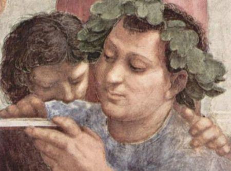 Epicuro in La scuola di Atene, Raffaello Sanzio, 1509-1511
