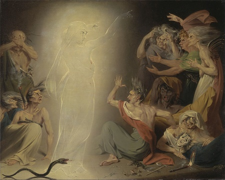 John Downman. The ghost of Clitemnestra awakening The Furies. 1781, olio su tela, Yale Center of British  Art