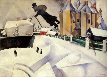 Sopra Vitebsk,  Marc Chagall, 1914