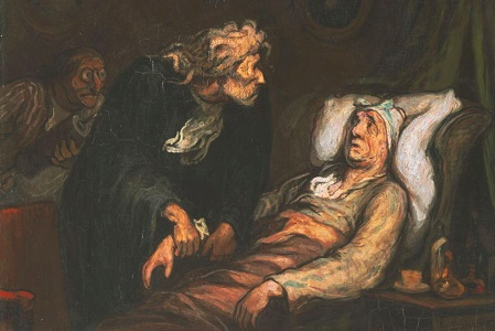 Honoré Daumier Le Malade Imaginaire. (c. ca 1860-2) Oliio su tela, Philadelphia Museum of Art.