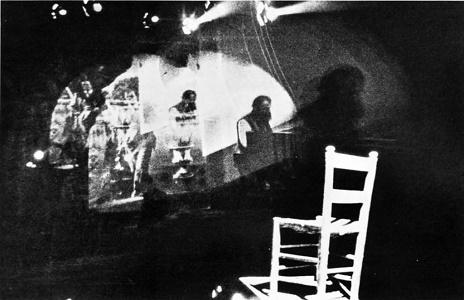Simone Carella. Autodiffamazione, 1976. Foto di Alef. Pubblicata in 'Data', n°27, lugio-settembre 1977.