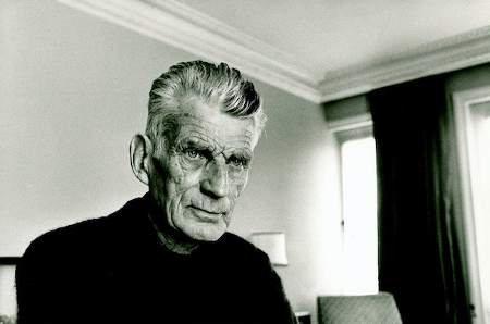 Samuel Beckett fotografato all'Hyde Park Hotel, 1980. Foto di John Minihan